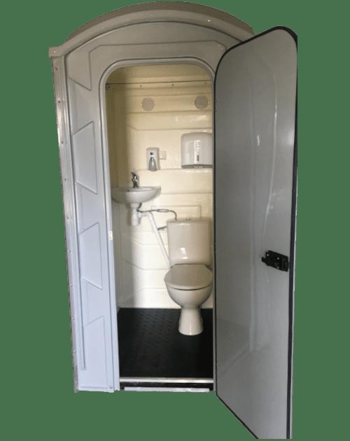Toaleta przenośna zpisuarem iumywalką